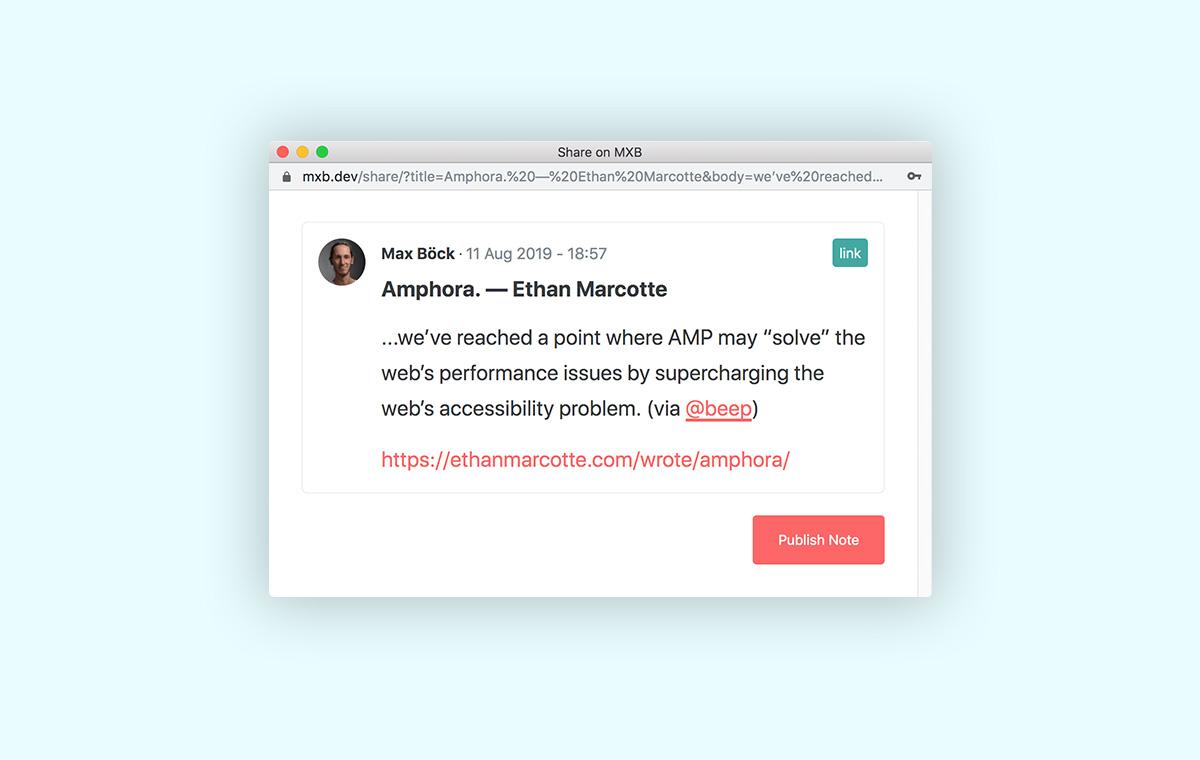 IndieWeb Link Sharing   Max Böck - Frontend Web Developer