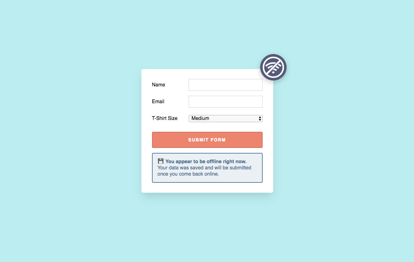 Offline-Friendly Forms by Max Böck